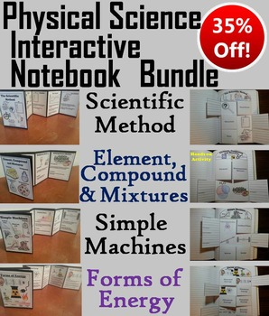 Physical Science Interactive Notebooks Bundle: Energy, Scientific Method, etc.