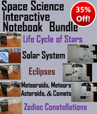 Astronomy Interactive Notebooks Bundle: Solar System and Planets, Eclipses, etc.