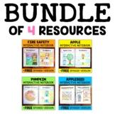 Fall Theme Interactive Notebooks Activities Bundle