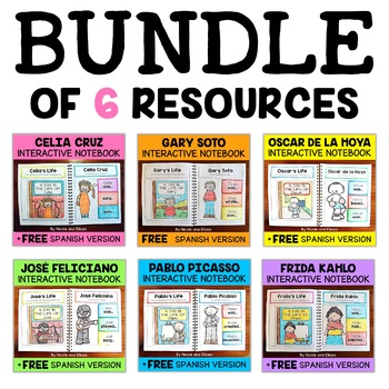 Interactive Notebooks - Hispanic Heritage Bundle