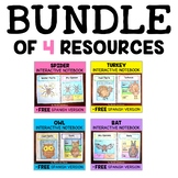 Interactive Notebooks - Fall Animals Bundle