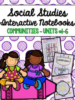 Social Studies Interactive Notebooks BUNDLE - Grade 2
