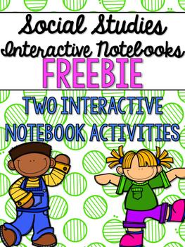 Social Studies Interactive Notebooks - Grade 2 FREEBIE