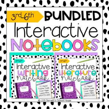 Back to School Interactive Notebooks BUNDLE CCSS for 3rd-6th Grade