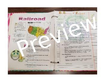 Interactive Notebooks--Big Business & Railroads