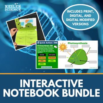 Science Interactive Notebooks Bundle - Includes all 8 of my Best-Selling INB's