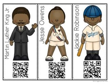 Famous African Americans (Interactive Notebooks with QR Codes)