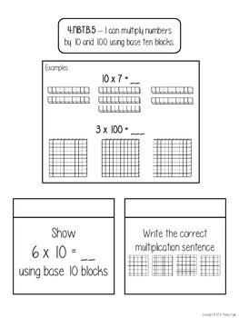 Interactive Notebooks - Intro to Multiplying - Base 10 + Multiples of 10 and 100