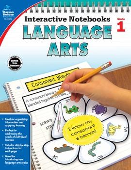 Interactive Notebooks Language Arts Grade 1 SALE 20% OFF 104652