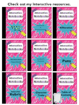 Interactive Notebooks - Leftovers Pocket