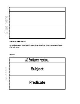 Interactive Notebooks: Template double long flapbook