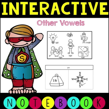 Interactive Notebooks Vowel Patterns- ow, ou, y, ew, igh