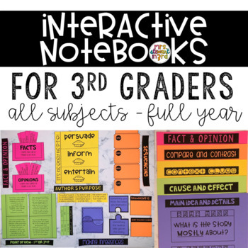 Interactive Notebooks for 3rd Graders