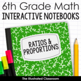6th Grade Math Interactive Notebooks Guided Notes for Rati