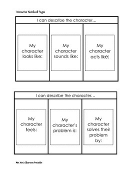 Interactive Notebooks for Fiction Comprehension Strategies