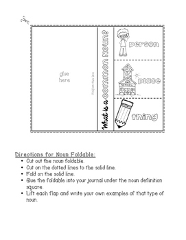 Interactive Notebooks for Nouns