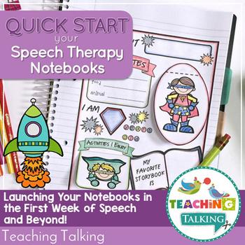 First Week in Speech - Speech Therapy Notebooks Quick Start Pack