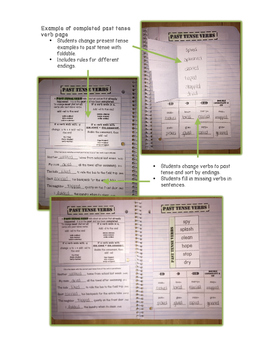 Interactive Notebooks for Verbs
