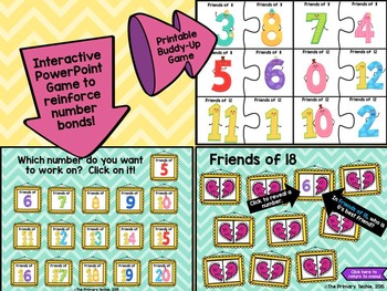 Interactive Notebooks with a Techie Twist!  Add-On Friends of Number Bonds