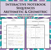 Interactive Notebook Notepage Arithmetic & Geometric Seque