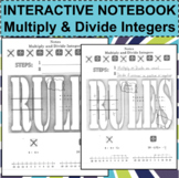 Interactive Notebook Notepage Multiply & Divide Positive Negative Integers