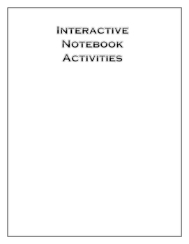 Interactive Notes Activites