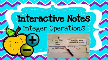 Interactive Notes: Integer Operations