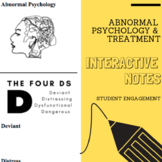 Interactive Notes | Psychological Disorders & Treatment