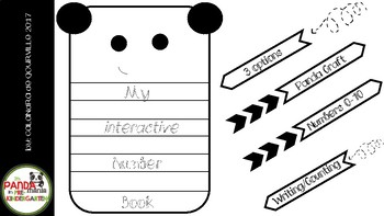 Interactive Number Book with PANDA CRAFTIVITY