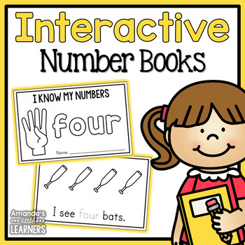Interactive Number Books 1-10