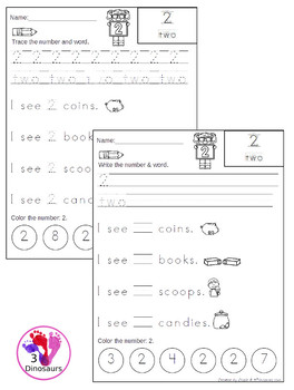 Interactive Number Books