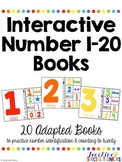 Interactive Number Books: Adapted Books to Practice Numbers 1-20