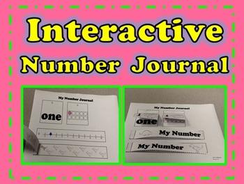 Dinosaur Interactive Number Journal