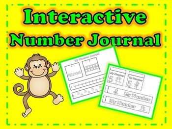 Monkey Interactive Number Journal