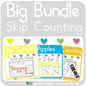 Skip Counting Bundle: Worksheets and Little Books