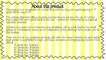 Interactive Number Lines Activity Sheets Grades 1-5