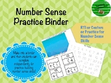 Interactive Number Sense Binder