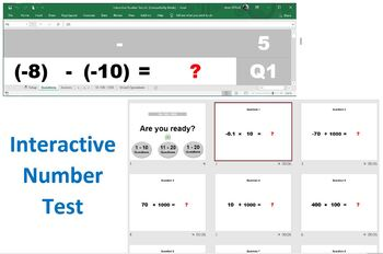Interactive Number Tests