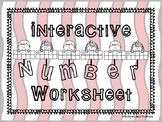 Interactive Numbers Worksheet (1-20)