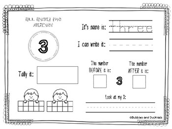 Interactive Numbers Worksheet (1-20)