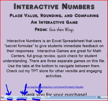 Interactive Numbers: an Interactive Game using EXCEL