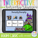 Interactive Nursery Rhymes and  Boom Cards Distance Learning