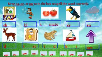 Google Classroom- Interactive OW, OE, OA Word Work Activities