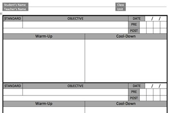 Interactive Objective Sheet (Version 3)
