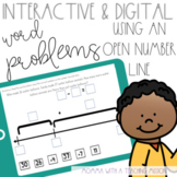 Interactive Open Number Line with Word Problems for Google Drive Classroom