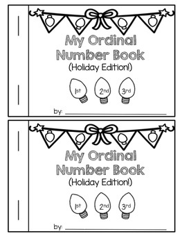 Interactive Ordinal Numbers Book