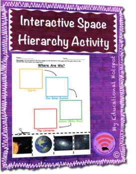Interactive Outer Space Hierarchy Activity Worksheet