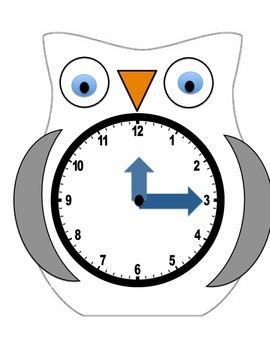 Clock Template | Interactive Owl Clock Template