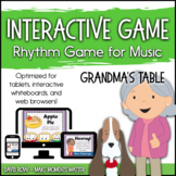 Interactive PDF - Fill Grandma's Table Thanksgiving-themed Rhythm Game