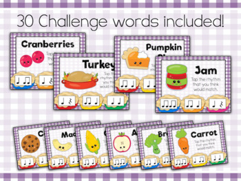 Interactive PDF - Fill Grandma's Table Thanksgiving-themed Rhythm Game
